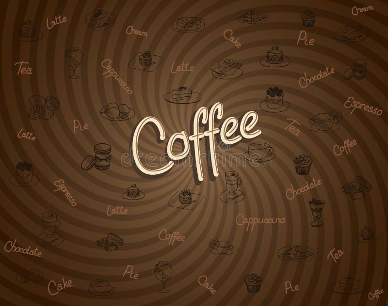 tema för upplösning för bild för kaffeblomma högt royaltyfri illustrationer
