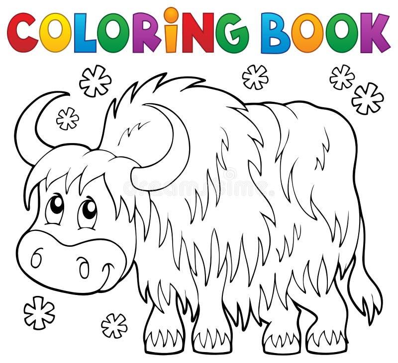 Tema 1 för yak för färgläggningbok royaltyfri illustrationer