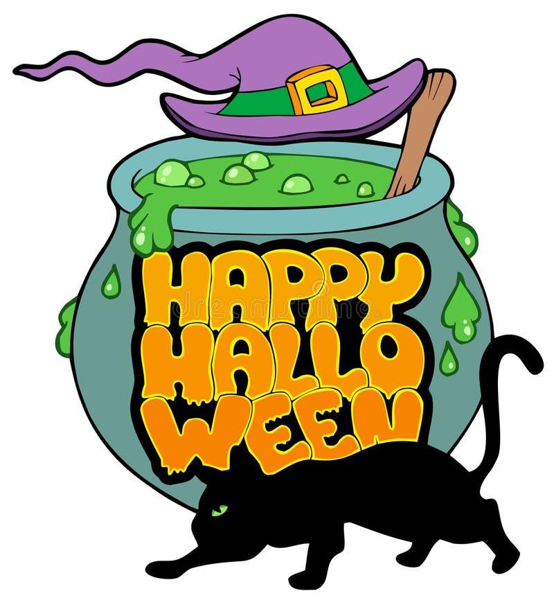 Tema felice 4 di Halloween illustrazione di stock