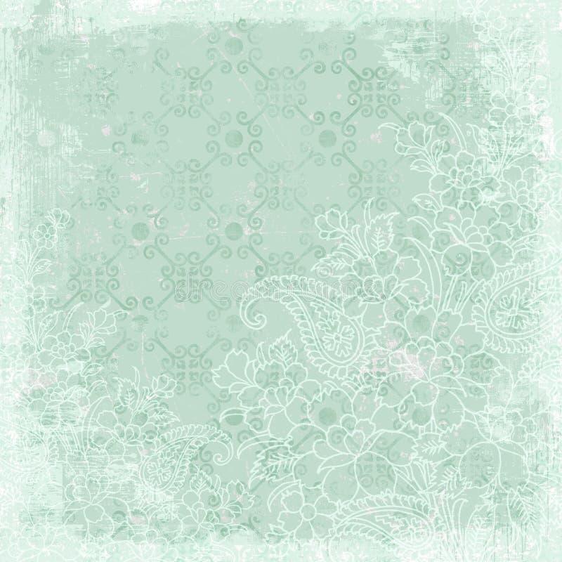 Tema floral de la Navidad del fondo de la vendimia ilustración del vector