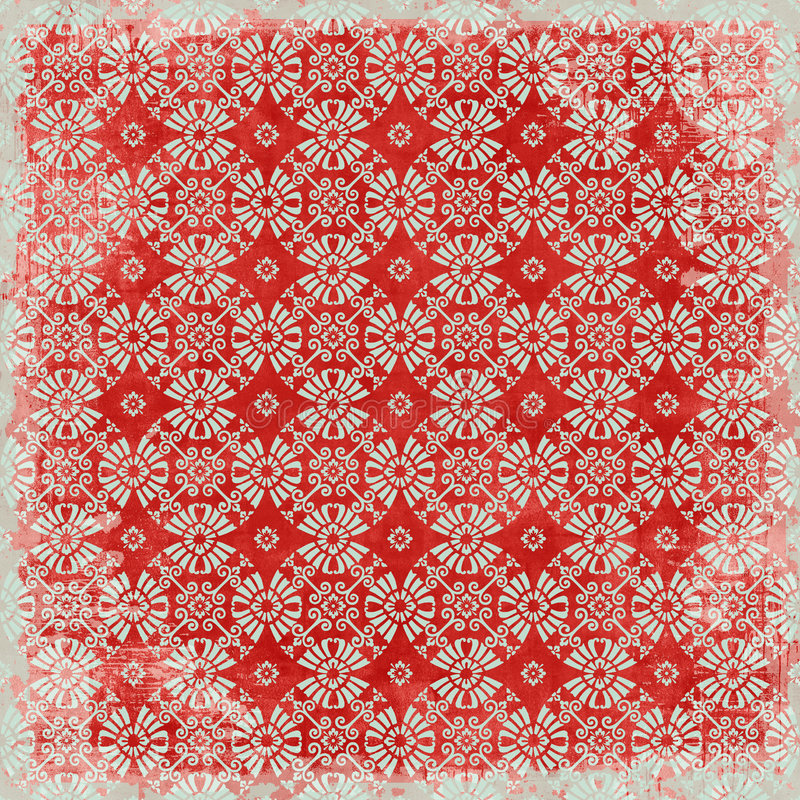 Tema floral do Natal do fundo do vintage foto de stock royalty free
