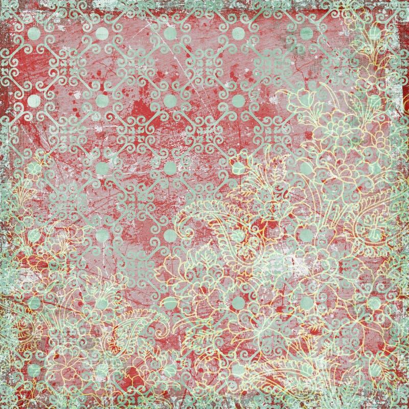 Tema floral do Natal do fundo do vintage fotografia de stock