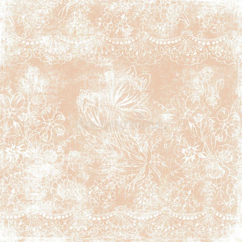Tema floral do Natal do fundo do vintage ilustração royalty free