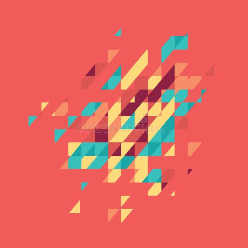 Tema geométrico coloreado extracto Mosaico moderno plano stock de ilustración