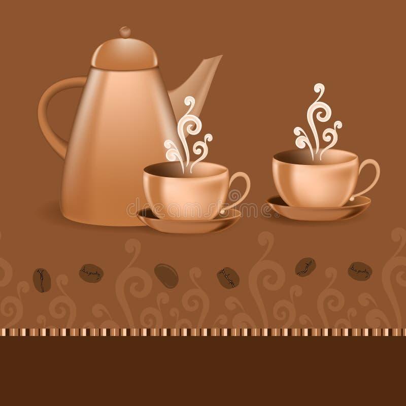 Tema inconsútil del café de la frontera libre illustration