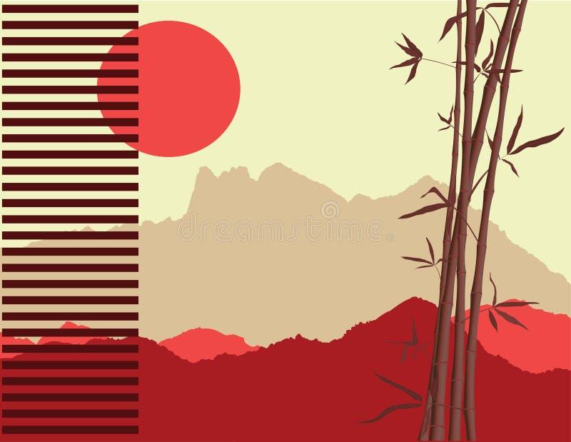 Tema japonés ilustración del vector