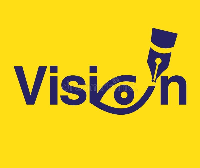 Tema Logo Concept da visão ilustração stock