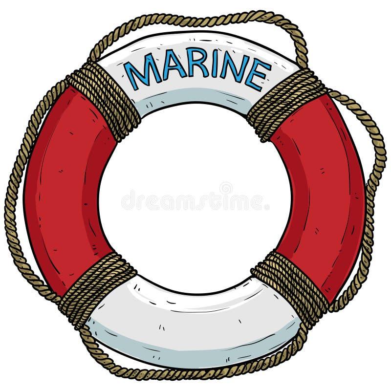 Tema marino, salvagente royalty illustrazione gratis