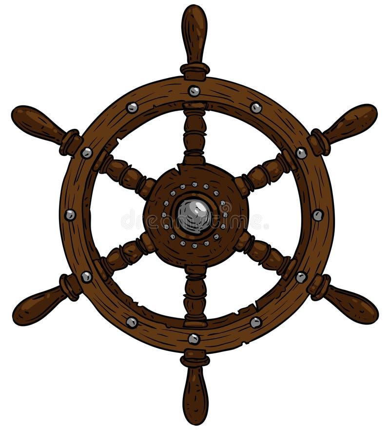 Tema marino, volante stock de ilustración