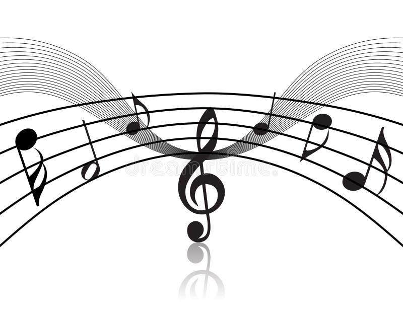 Tema musical da equipe de funcionários ilustração do vetor
