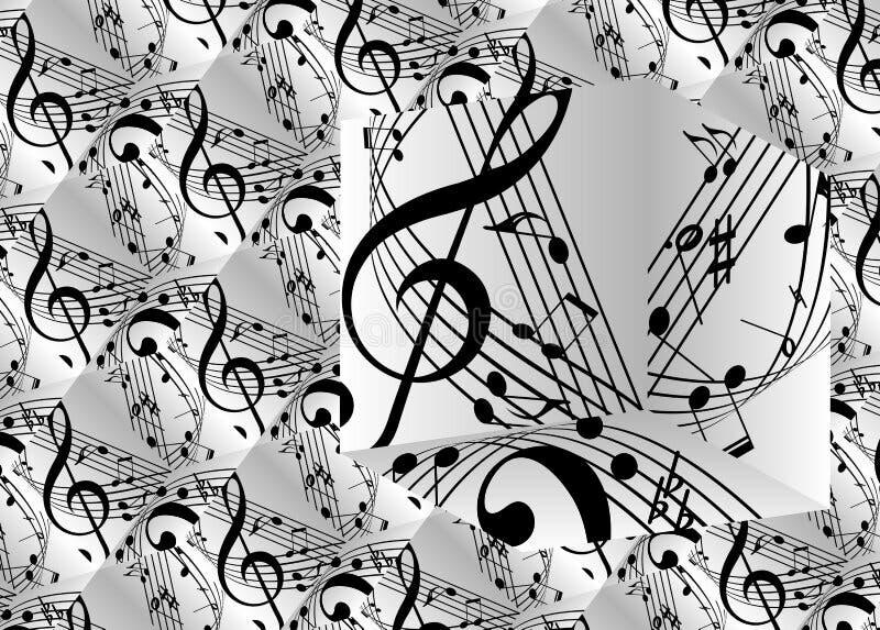 Tema musical do fundo imagens de stock