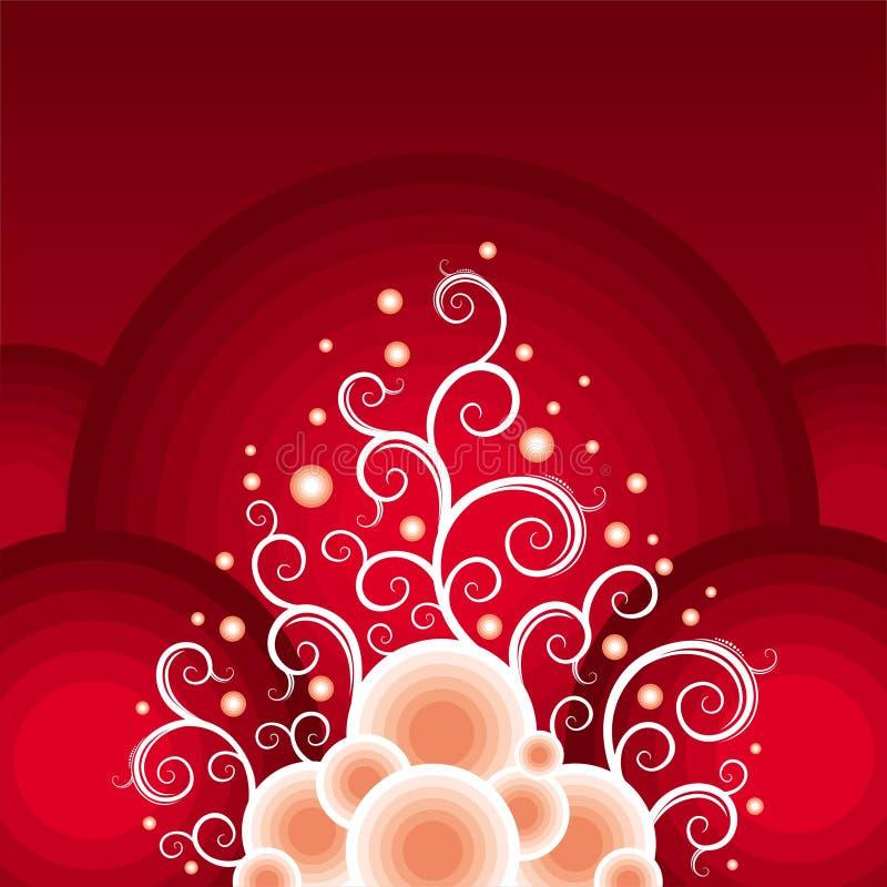 Tema rosso-bianco di natale royalty illustrazione gratis