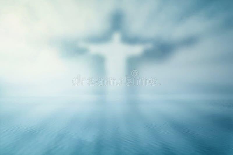 Tema soñador de Jesús ilustración del vector