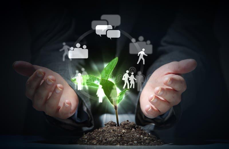 Tema social da rede imagem de stock