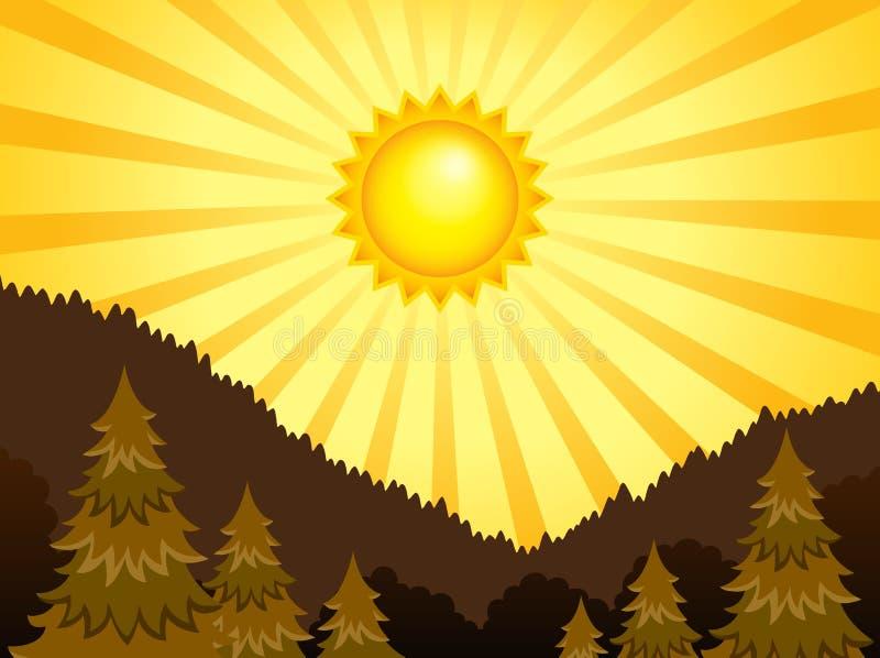 Tema soleggiato astratto 2 del paesaggio illustrazione vettoriale