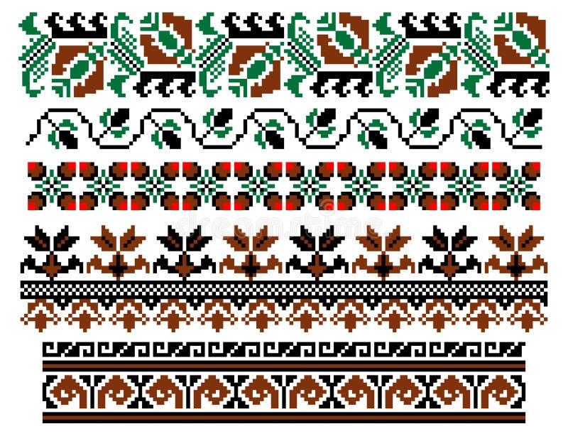 Tema tradizionale rumeno illustrazione di stock