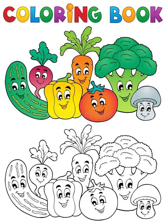 Tema Vegetal 2 Del Libro De Colorear Ilustración del Vector ...