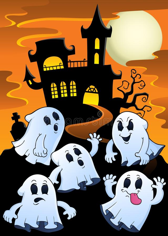 Tema vicino frequentato 1 della casa dei fantasmi illustrazione vettoriale