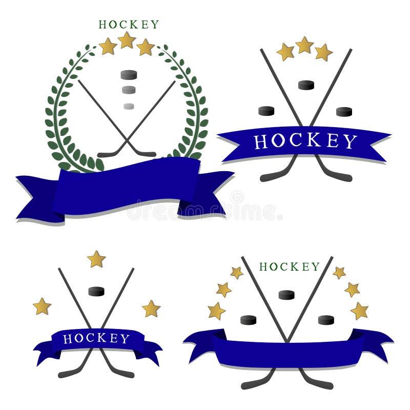 Temahockeyn vektor illustrationer