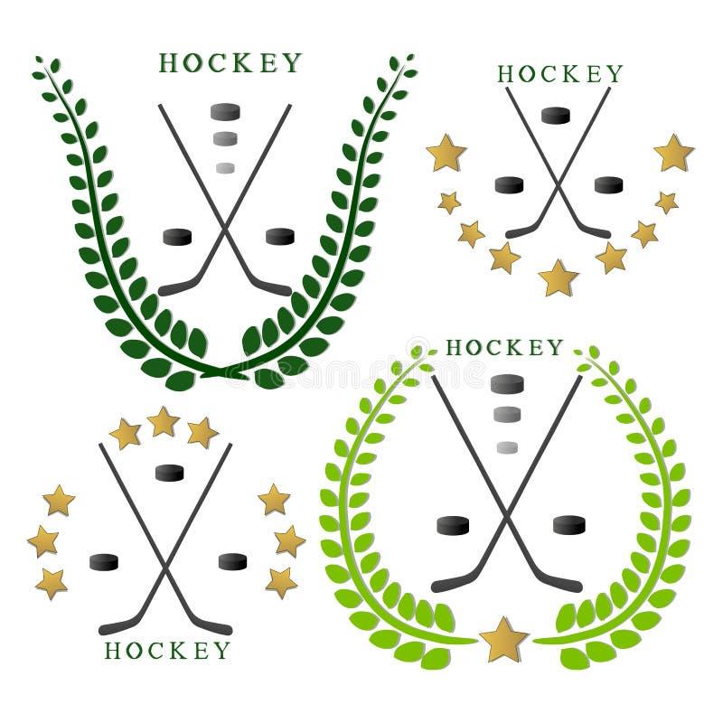Temahockeyn stock illustrationer