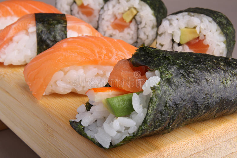 Temaki sushi royalty free stock photo