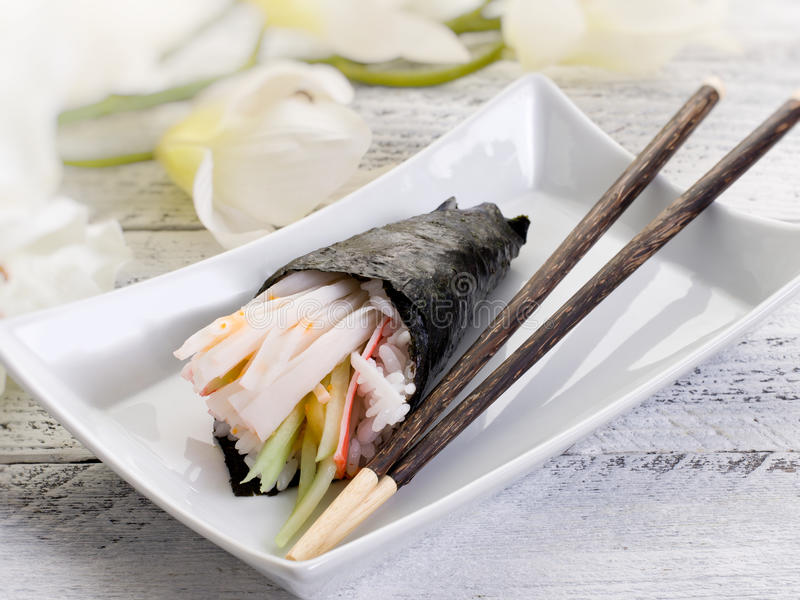 Download Temaki sushi stock photo. Image of chopsticks, color - 19123784