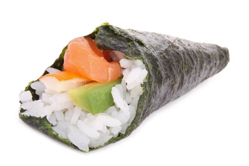 Temaki sushi isolated stock photo. Image of fish, sashimi ...
