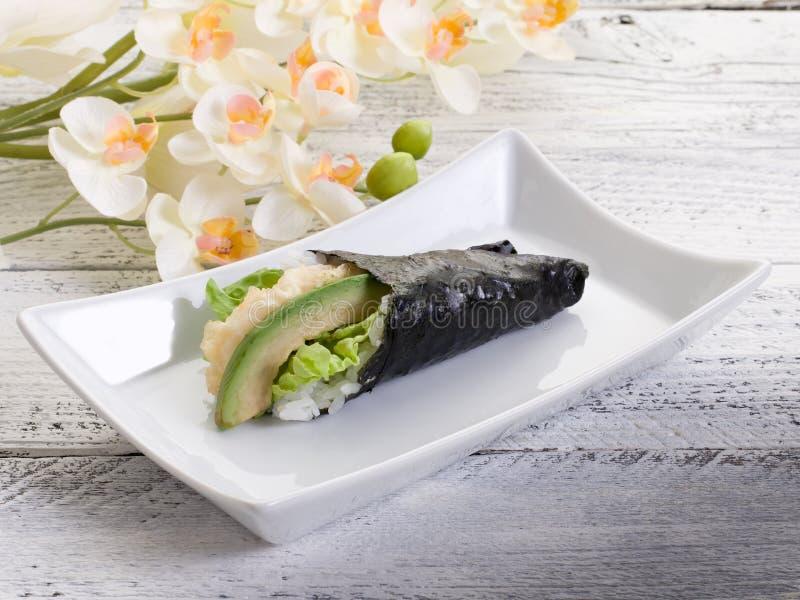 Download Temaki tempura stock image. Image of east, japan, appetizer - 19123693