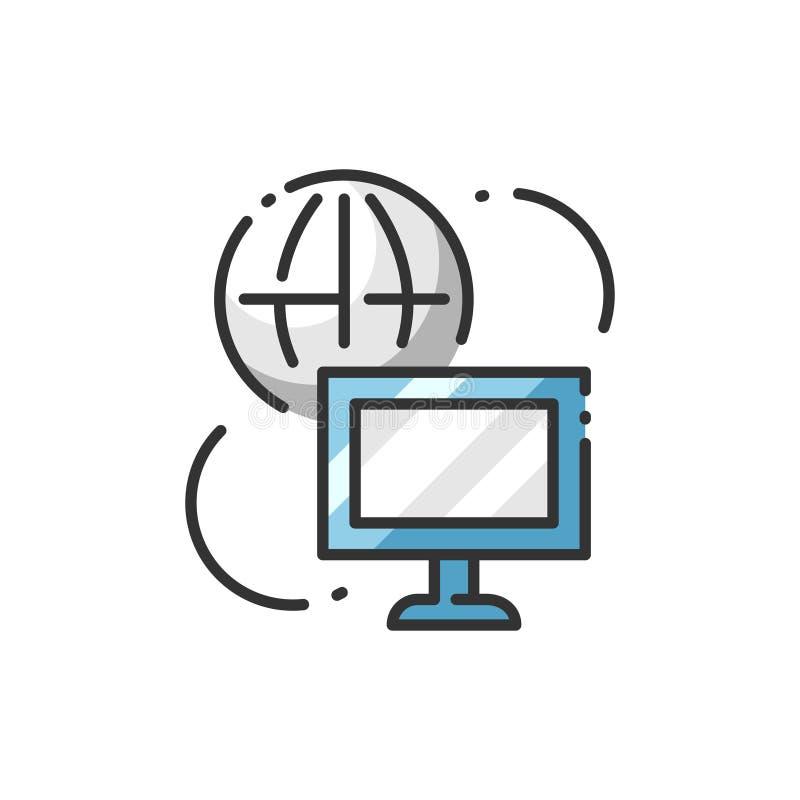 Temas de la informática ilustración del vector