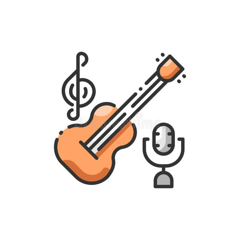 Temas de la música stock de ilustración