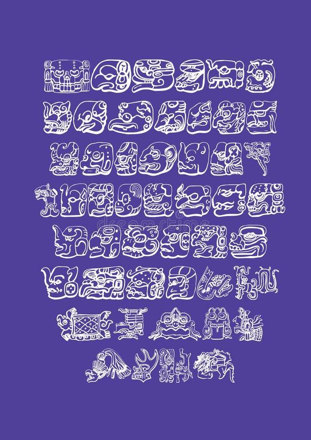 Temas del maya ilustración del vector