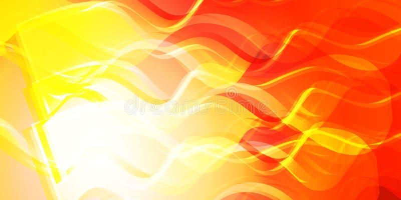 Temat ogień dla sztandaru ilustracji