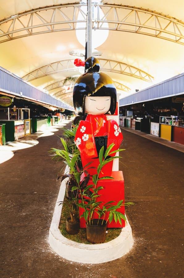 Tematowa japońska dekoracja przy wydarzenia XIII festiwalem Robi Soba zdjęcie royalty free