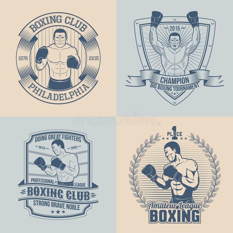 Tematu boks ilustracja wektor
