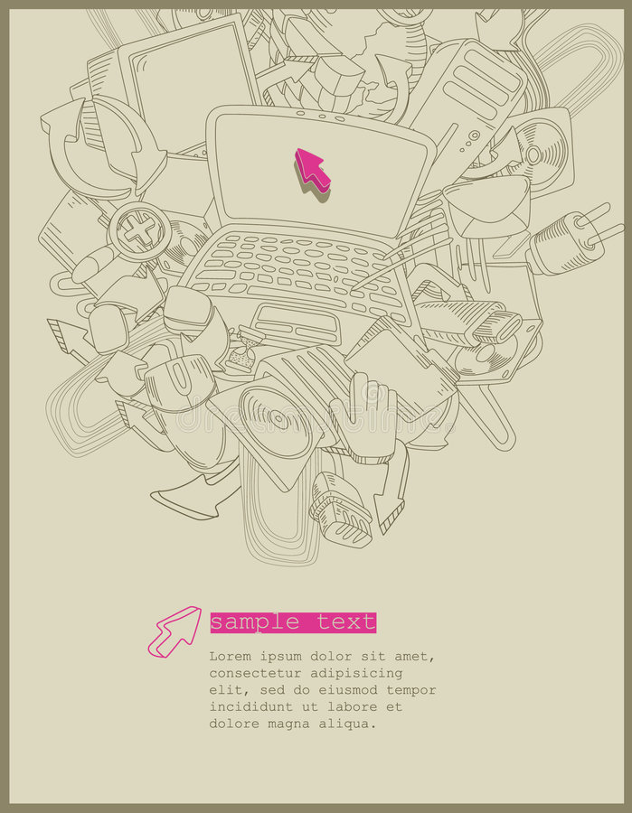 tematu komputerowy wektor