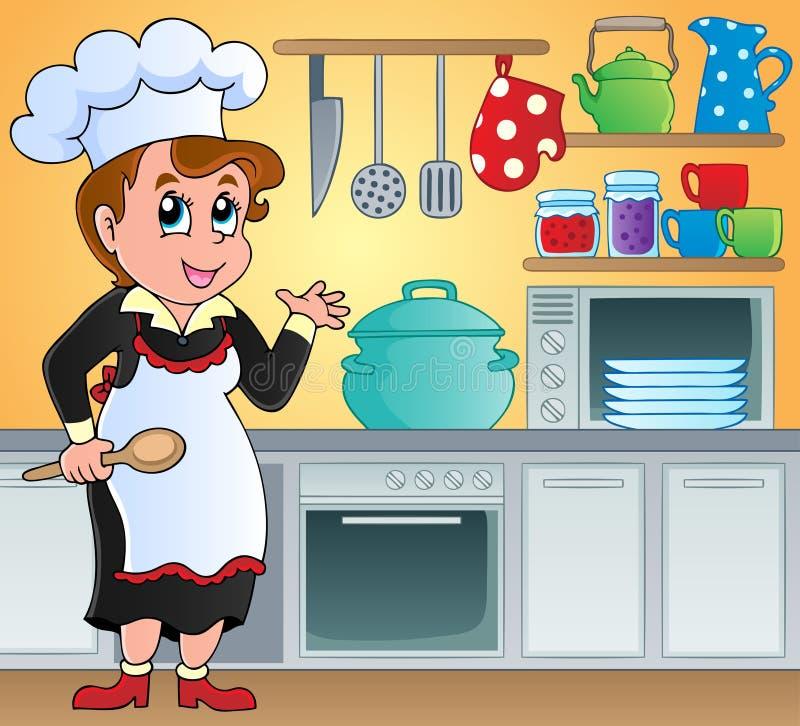 Tematu kuchenny wizerunek 6 royalty ilustracja