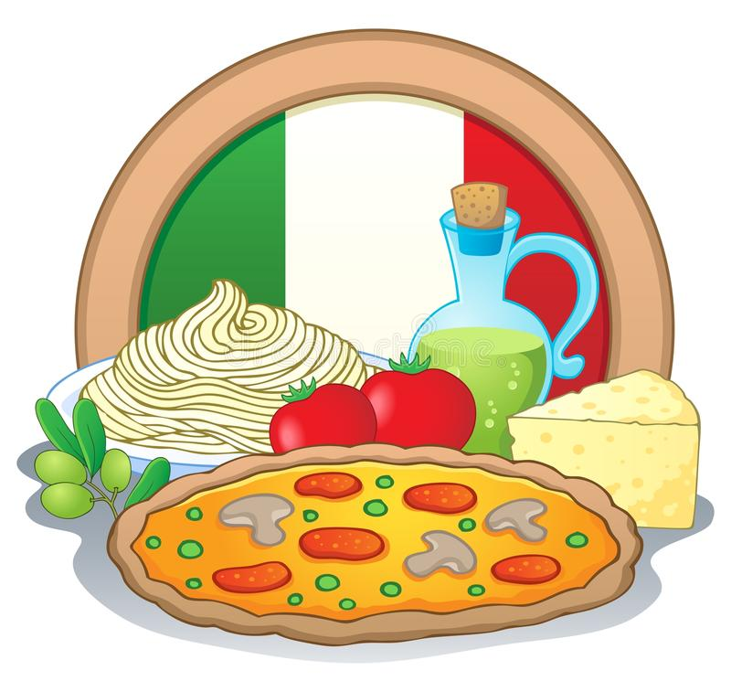 Tematu włoski karmowy wizerunek (1) royalty ilustracja
