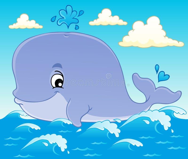 Tematu wielorybi wizerunek (1) royalty ilustracja