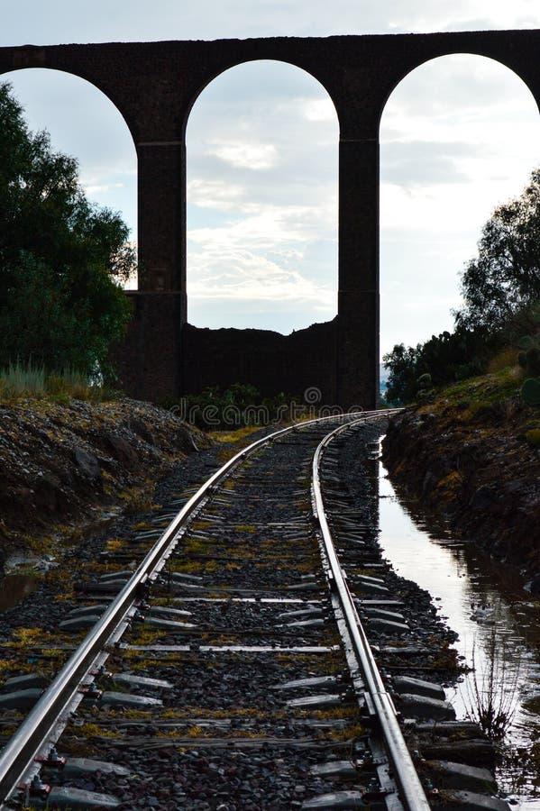 Tembleque trian track stock photo