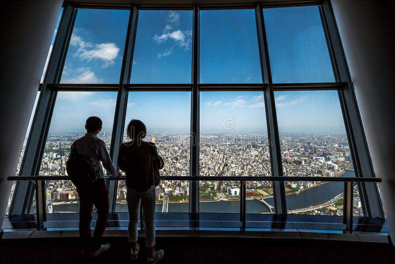 Tembo däck Tokyo Skytree royaltyfria bilder