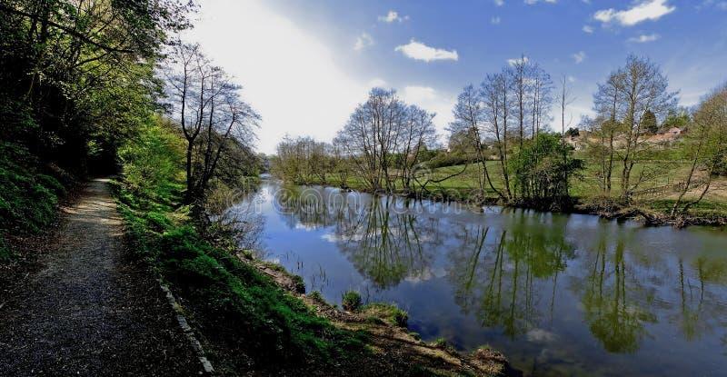 Teme do rio de Ludlow imagens de stock