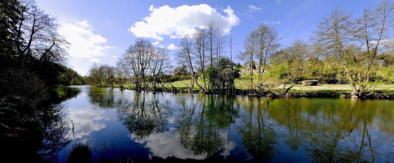 teme ludlow rzeki obraz royalty free