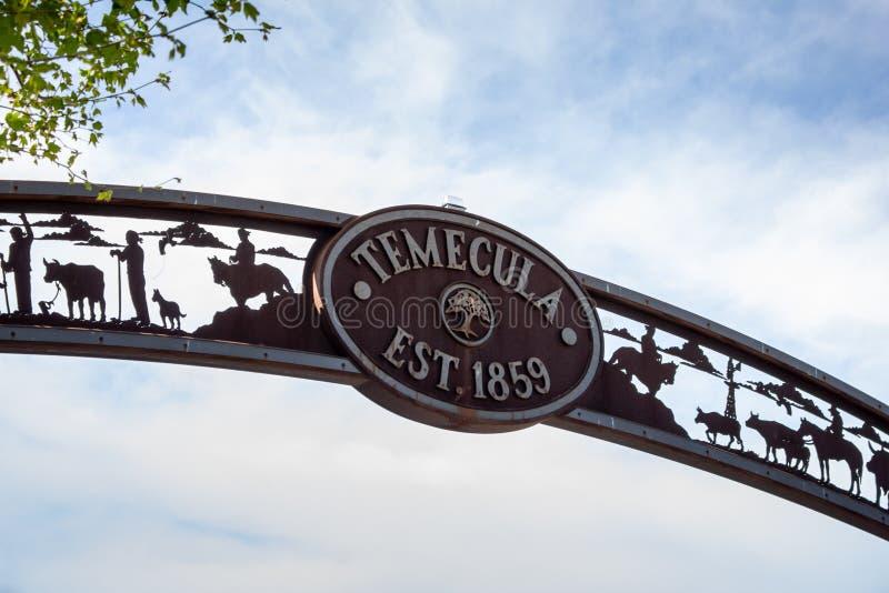Temecula downtown sign stock photography