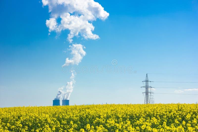temelin силы ядерной установки стоковая фотография