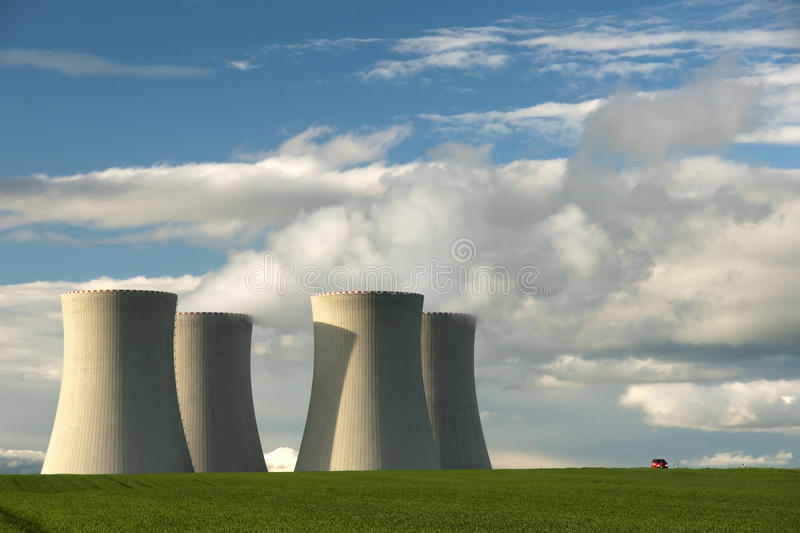 Temelin NPP in the Czech Republic. Temelin nuclear power plant in the Czech Republic owned by CEZ company and located close to Tyn nad Vltavou and Ceske stock image
