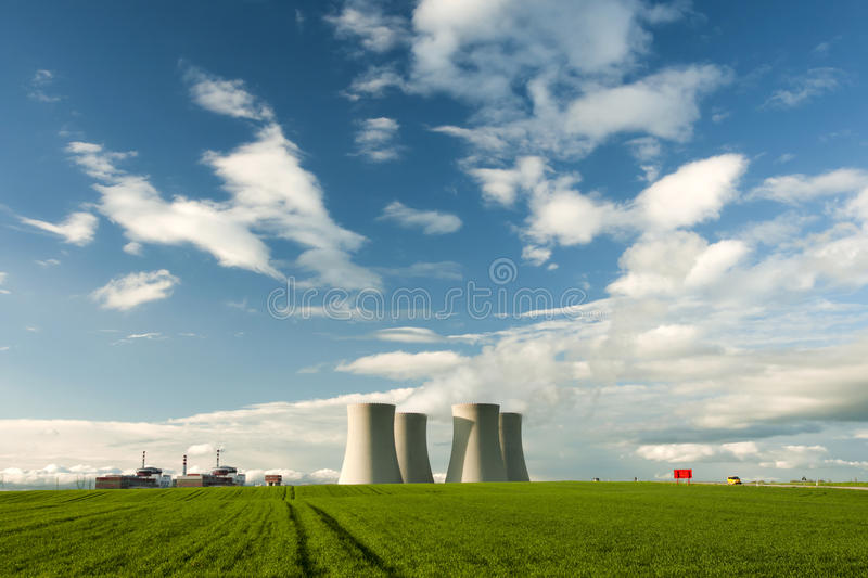 Temelin NPP in the Czech Republic. Temelin nuclear power plant in the Czech Republic owned by CEZ company and located close to Tyn nad Vltavou and Ceske royalty free stock images