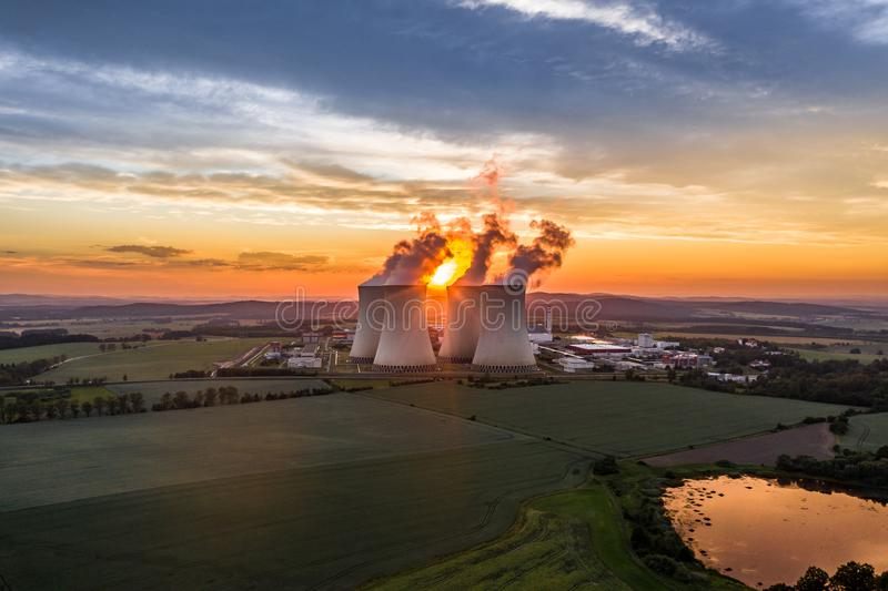 Temelin Nuclear Power Station in south bohemia in Czech Republic. Temelin Nuclear Power Station. In spring 2003, the Temelin Nuclear Power Plant, with its 2160 stock image