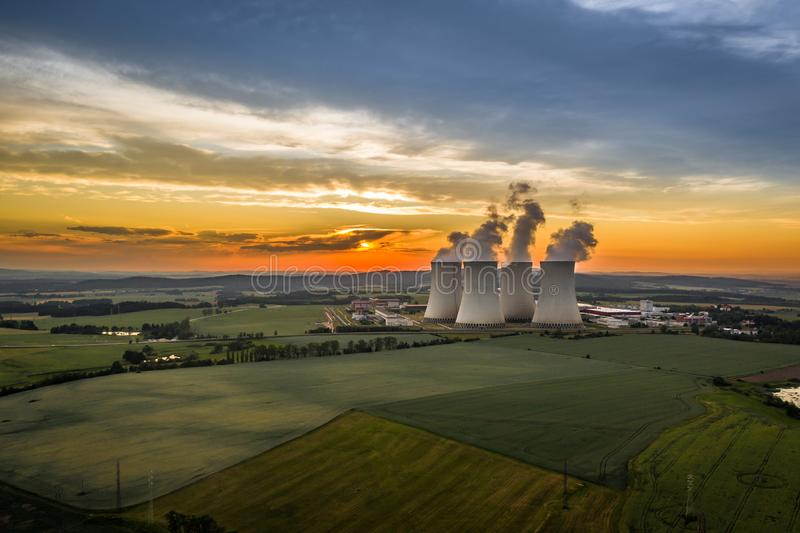 Temelin Nuclear Power Station in south bohemia in Czech Republic. Temelin Nuclear Power Station. In spring 2003, the Temelin Nuclear Power Plant, with its 2160 stock photography