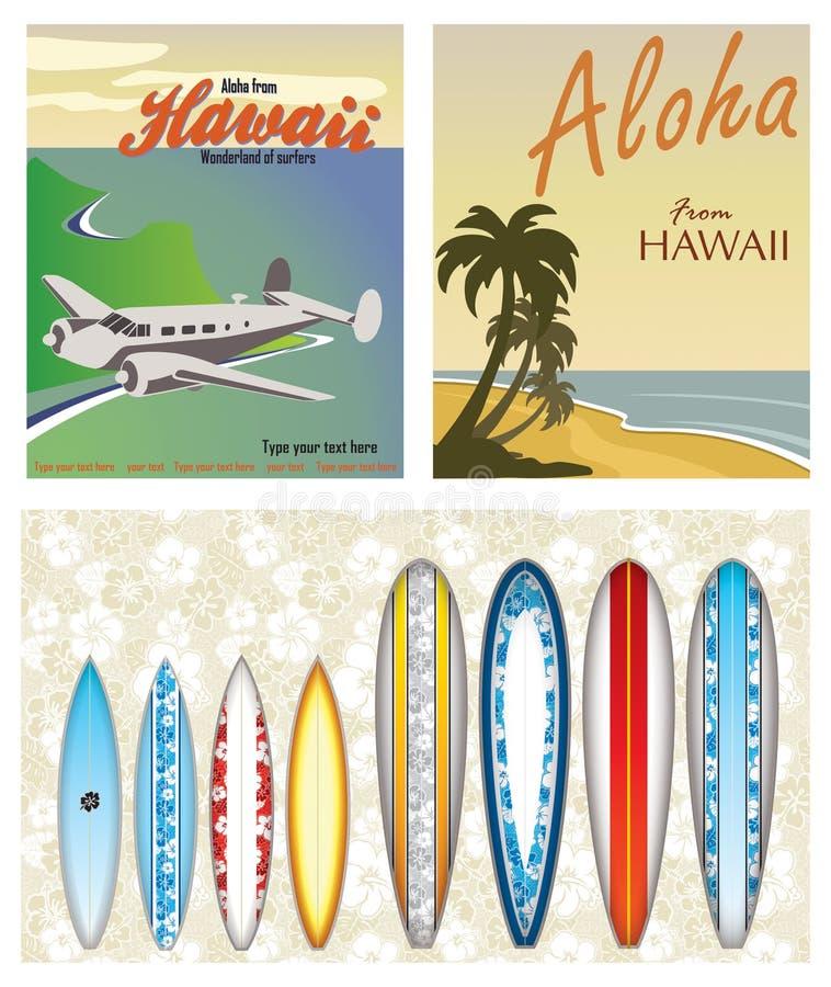 Temi hawaiani illustrazione vettoriale