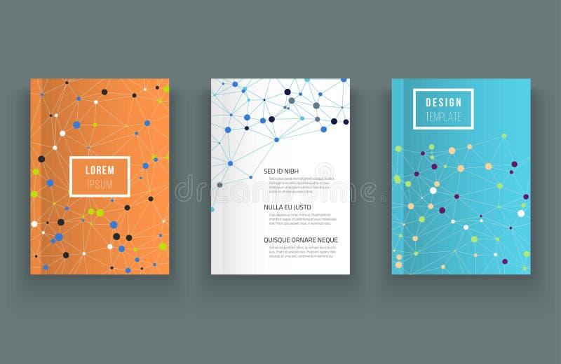 Temlate дизайна брошюры Резюмируйте линии и многоточия иллюстрация вектора